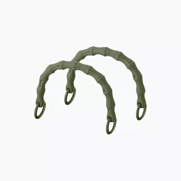 .anses courtes bambou avec anneau