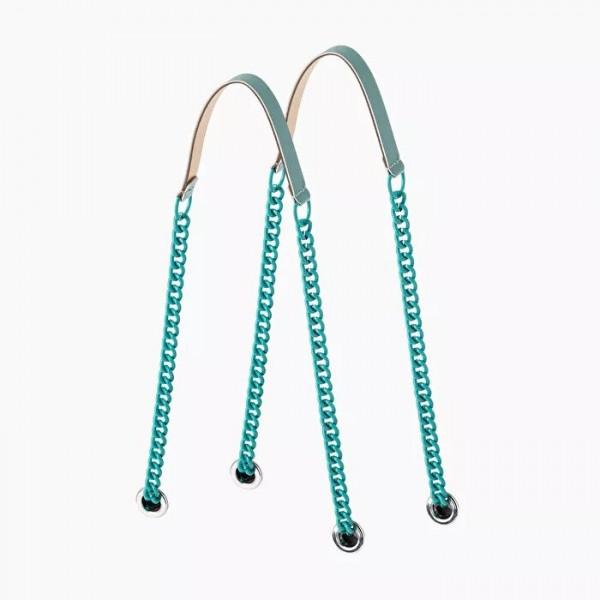 .anses longues double chaîne couleur
