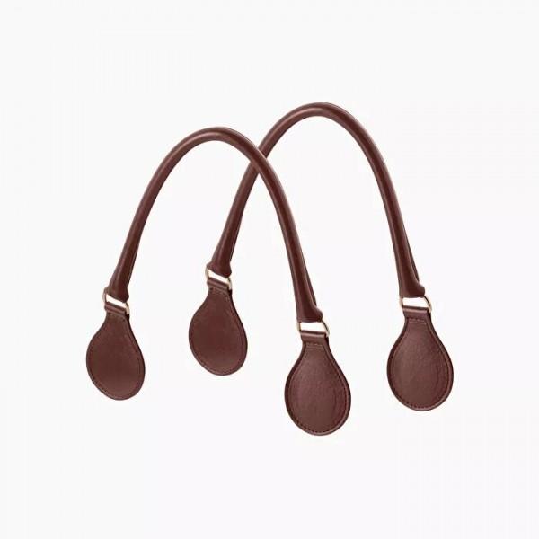 .anses courtes tubulaires faux cuir avec anneau métal