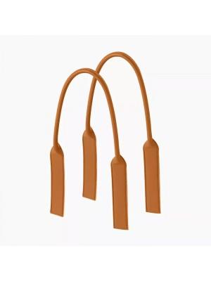 .anses longues tubulaires faux cuir languette