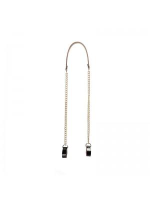 .bandoulière chaîne or avec poignée faux cuir