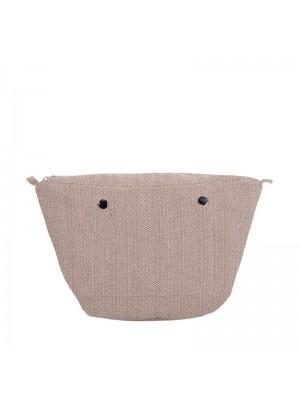 O bag knit .intérieur chevrons
