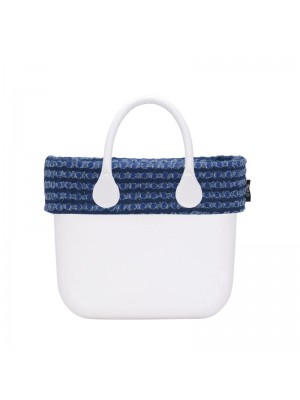 O bag mini .bordure denim