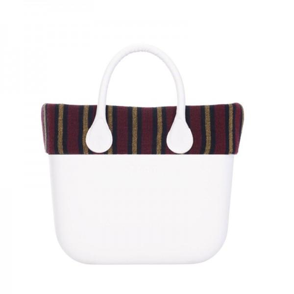 O bag mini .bordure raies verticales