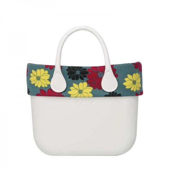 O bag mini .bordure à fleurs