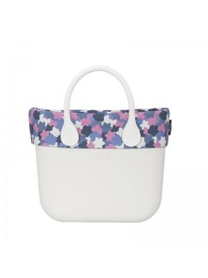 O bag mini .bordure camouflage fleurs
