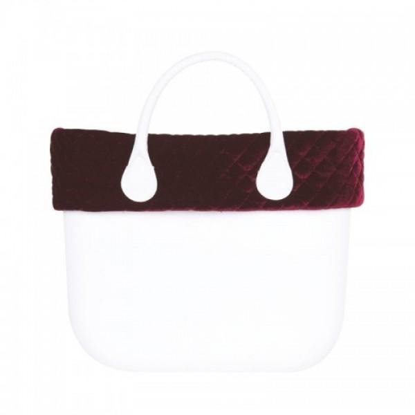 O bag mini .bordure velours matelassé