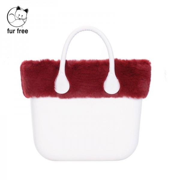 O bag mini .bordure fausse fourrure lapin