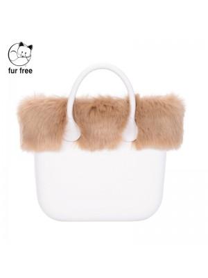 O bag mini .bordure fausse fourrure renard