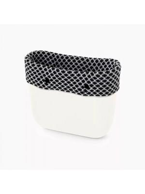 O bag mini .bordure laine optique