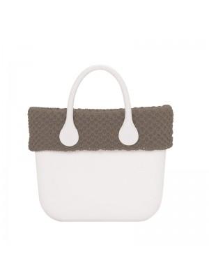 O bag mini .bordure laine tressée