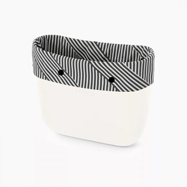 O bag mini .bordure rayures optiques