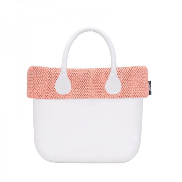 O bag mini .bordure paille d'été