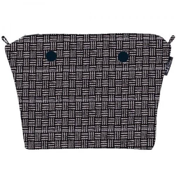 O bag mini .intérieur tissu laineux optique