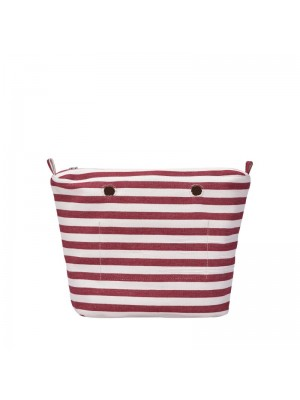 O bag mini .intérieur rayures fines