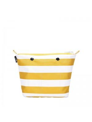 O bag mini .intérieur rayures larges