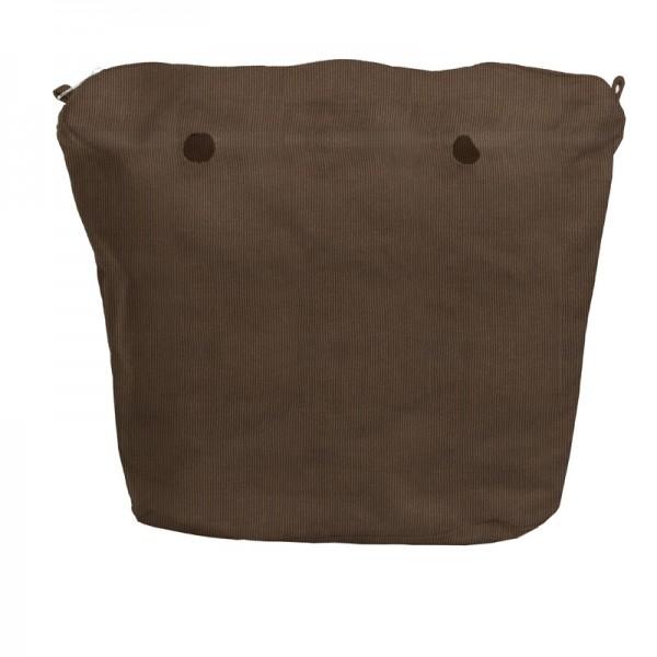 O bag mini .intérieur velours côtelé