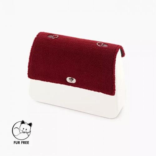O bag queen .rabat fausse fourrure mouton