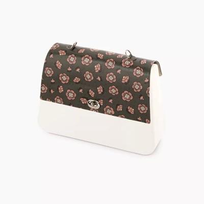 O bag queen .rabat faux cuir fantaisie œillets
