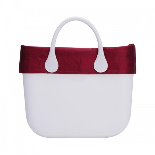 O bag .bordure soie sauvage