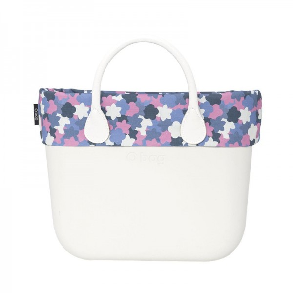 O bag .bordure camouflage fleurs