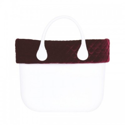 O bag .bordure velours matelassé