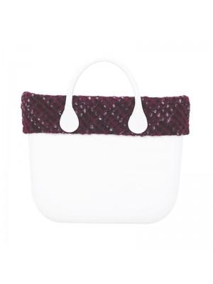 O bag .bordure fermeture tissu laineux
