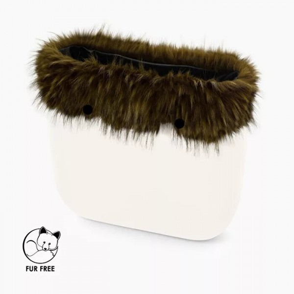 O bag mini .bordure fausse fourrure marmotte