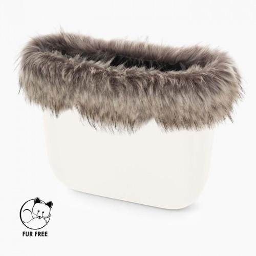 O bag .bordure fausse fourrure lynx