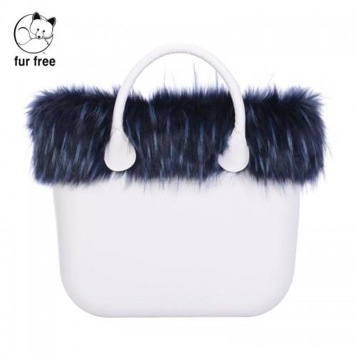 O bag .bordure fausse fourrure marmotte