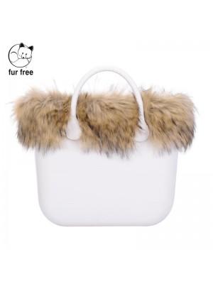O bag .bordure fausse fourrure racoon