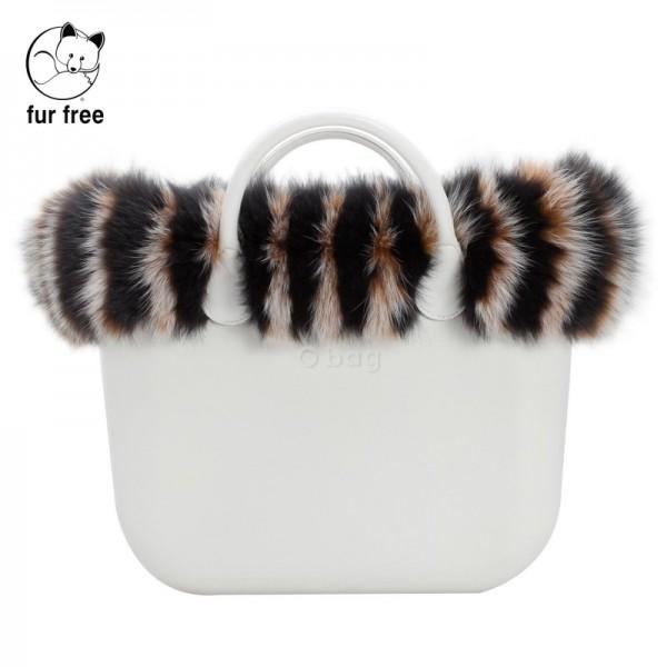 O bag .bordure fausse fourrure renard