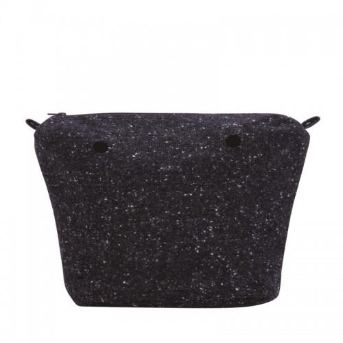 O bag mini .intérieur laine mouchetée