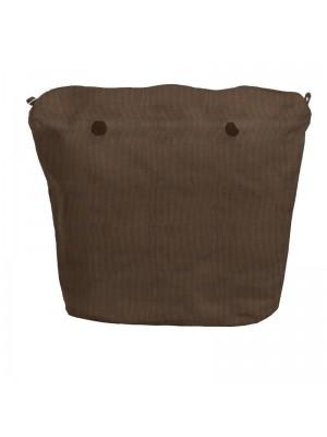 O bag .intérieur velours côtelé
