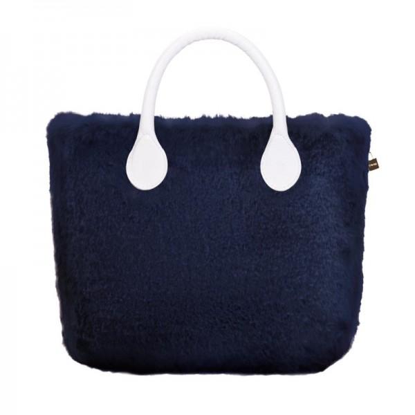 O bag mini .couverture fausse fourrure lapin