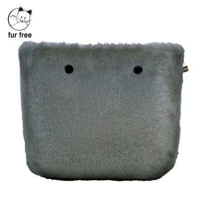 O bag .bordure fausse fourrure lapin