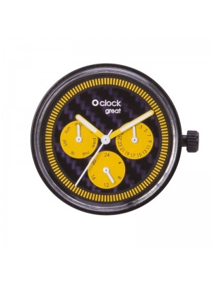 O clock great .cadran date racing carbon