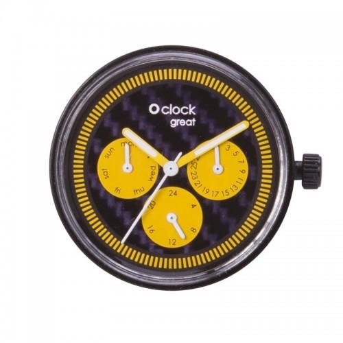 O clock great .cadran date racing carbon