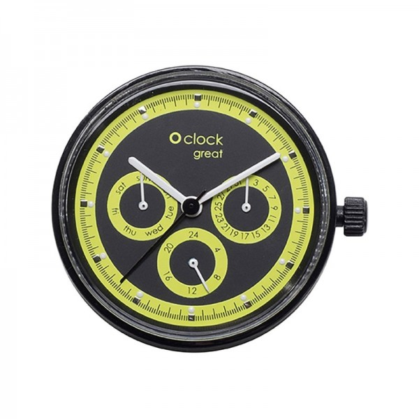 O clock great .cadran date racing fluo