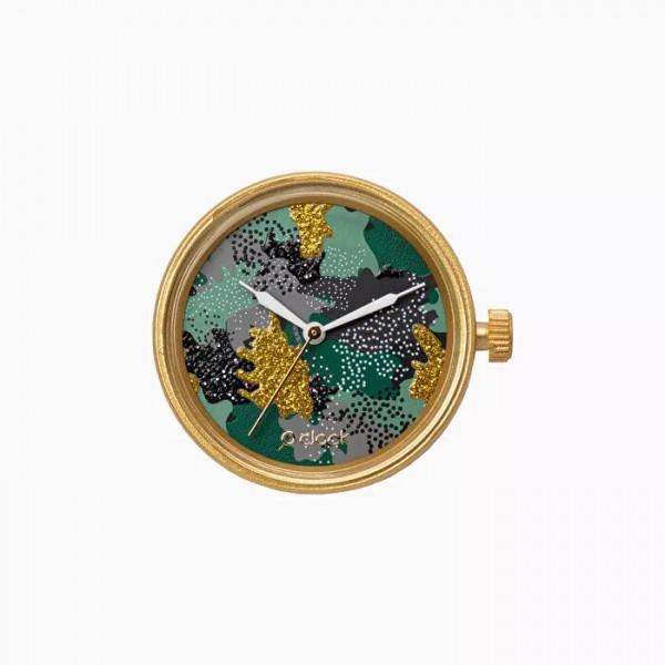 O clock .cadran camouflage métal