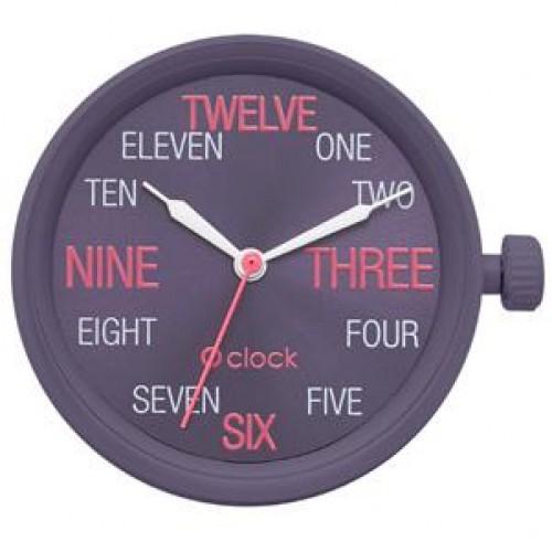 O clock .cadran chiffres lettres
