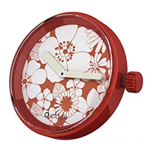 O clock .cadran fleurs