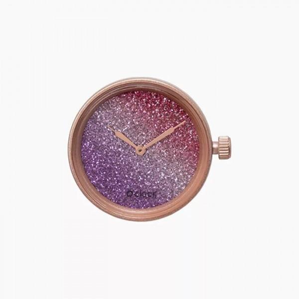 O clock .cadran glitter bicolore