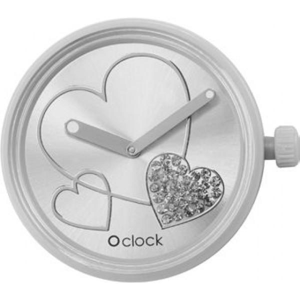 O clock .cadran coeur brillant