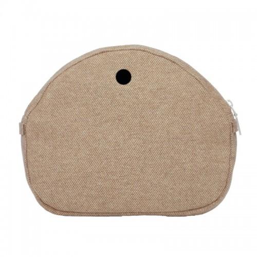 O bag moon light .intérieur tissu laineux à fines raies