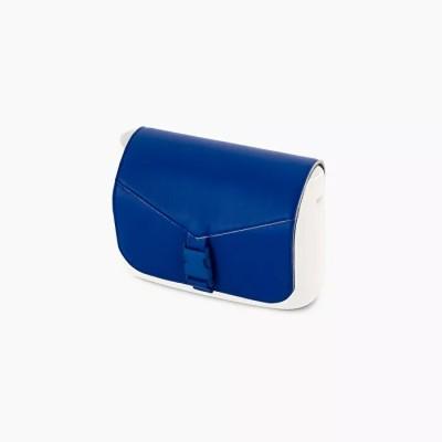 O pocket .rabat faux cuir style cartable