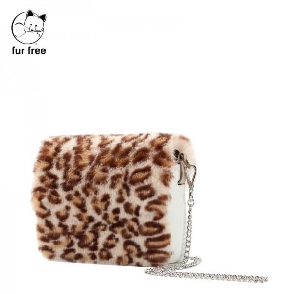 O pocket .rabat fausse fourrure léopard